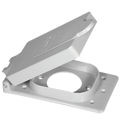 "PVC ""F"" Series Weatherproof 1-Gang 50A Receptacle Cover"