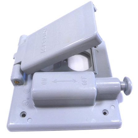 "PVC ""F"" Series Weatherproof 2-Gang Combo Switch and Receptacle Cover"